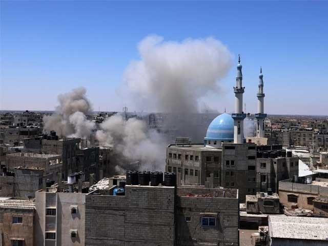 اسرائیل کی غزہ پر بمباری