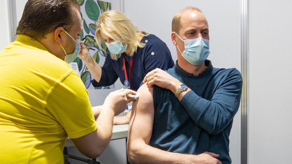 Prince William receives first Covid vaccine dose