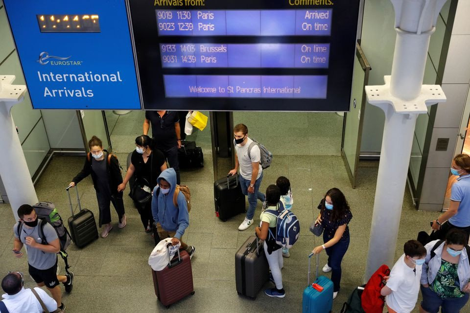 Britain facing airline pressure, considers easing restrictions for vaccinated travellers