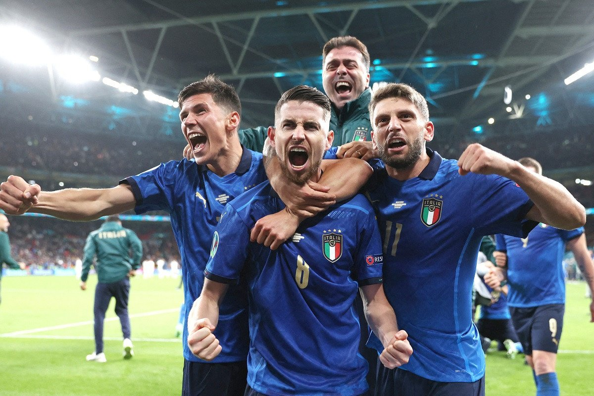 Mancini delights in defying expectations as Italy reach final