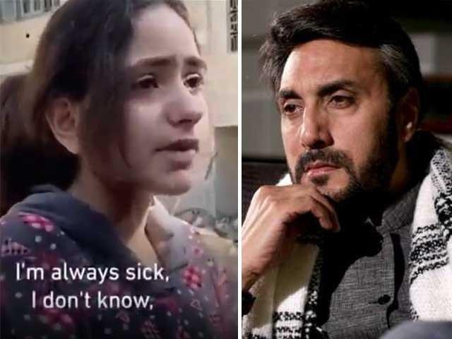 عدنان صدیقی مظلوم فلسطینی بچی کی فریاد سن کر آبدیدہ