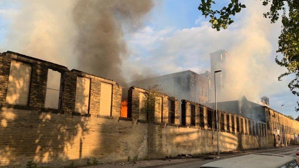 Bradford fire: Three-storey warehouse engulfed by flames