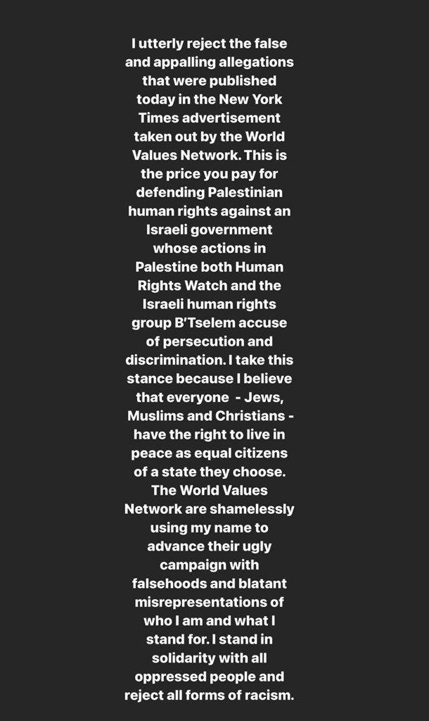 Dua Lipa slams ad linking her, Hadid sisters with Hamas