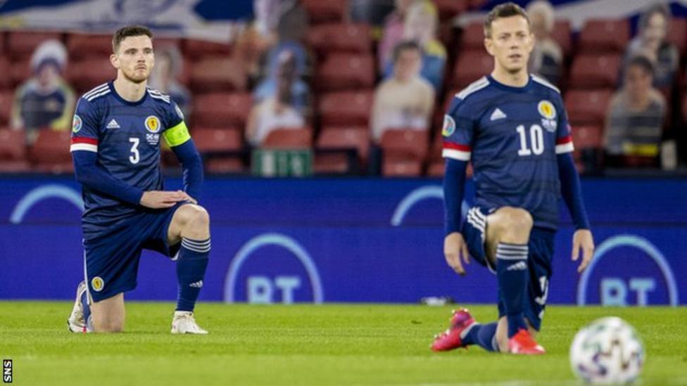 Euro 2020: Scotland to take a knee at Wembley but stand at Hampden