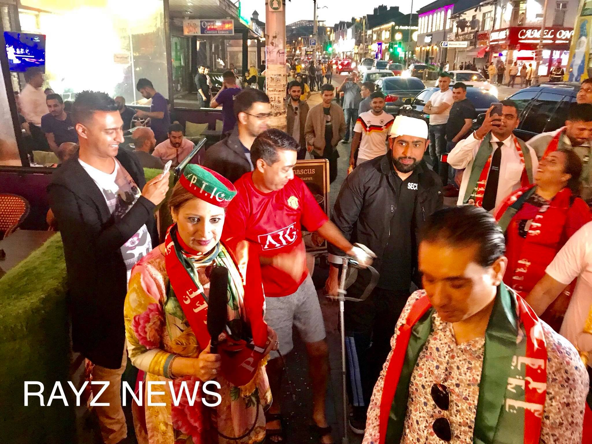 PTI Imran Lovers celebrate the conviction of ex prime minister Nawaz Sharif