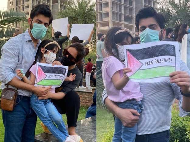 پاکستانی فنکار بھی فلسطین کے حق میں سڑکوں پر نکل آئے