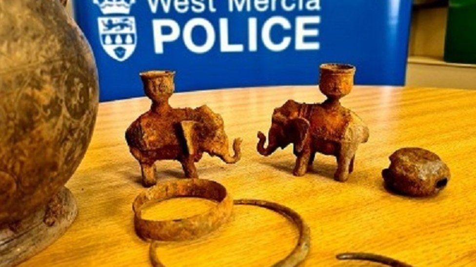 Worcestershire detectorist finds stolen treasures on first hunt